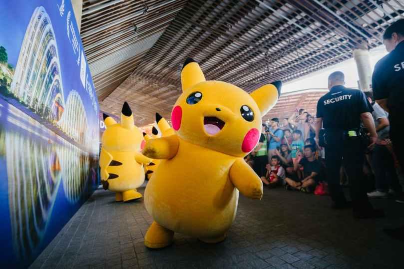 yellow pikachu plushmascot